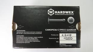 Коробка с саморезами с прессшайбой Hardwex