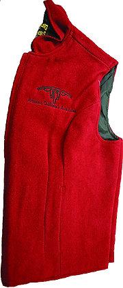 Women's Wool Vest: Red