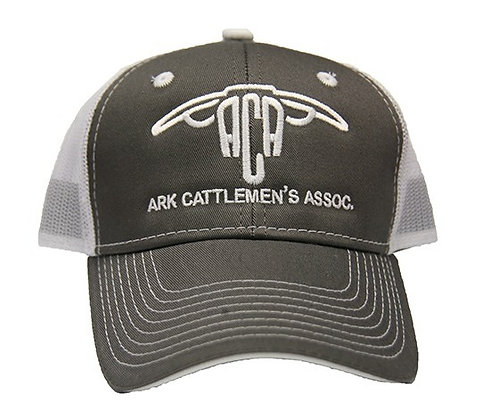 ACA Mesh Back Ball Cap: Grey