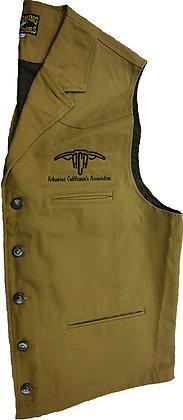 Men's Canvas Vest: Khaki