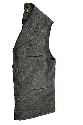 Men's Wool Vest: Charcoal