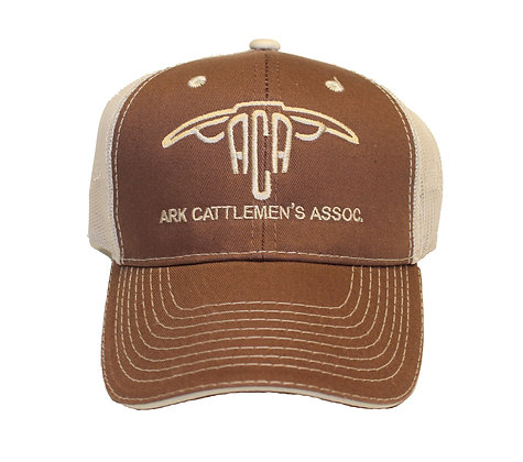 ACA Mesh Back Ball Cap:Brown