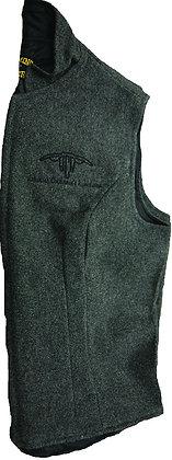 Women's Wool Vest: Charcoal