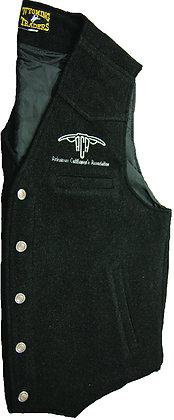 Men's Wool Vest: Black