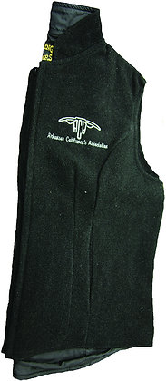 Women's Wool Vest: Black
