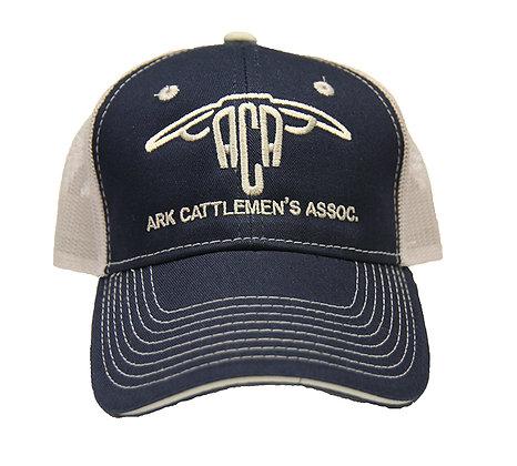 ACA Mesh Back Ball Cap:Navy