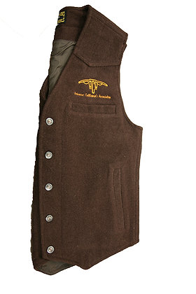Men's Wool Vest: Brown