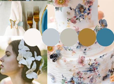 Trendy Mood Boards With Stars, Butterflies, and More: Wedding Styling Inspiration