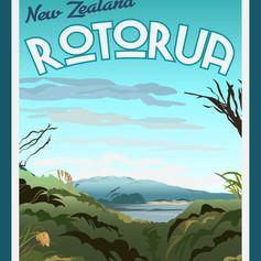 Rotorua Travel Poster