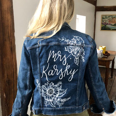 Handed Painted Jean Jacket