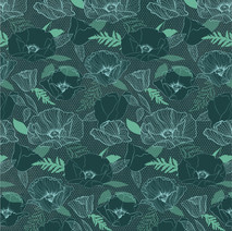 Blue Poppy Pattern