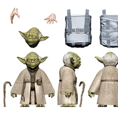 Deluxe Yoda Digital Painted Prototype (Hasbro)