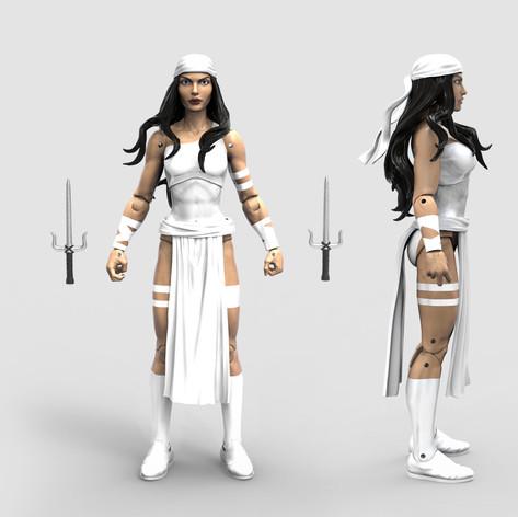 Elektra, Marvel Legends Digital Painted Prototype (Hasbro)