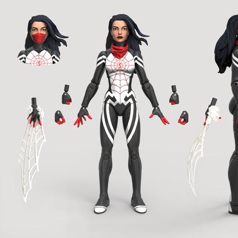 Silk, Marvel Legends Digital Painted Prototype (Hasbro)