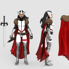 Lady Siff, Marvel Legends Digital Painted Prototype (Hasbro)