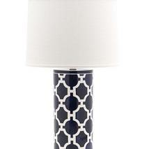 Lamp with Hampton Links Pattern