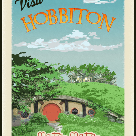 Hobbiton Travel Poster