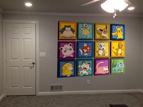 pokemon go cuadros decoracion