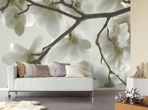 fotomural flores en sala