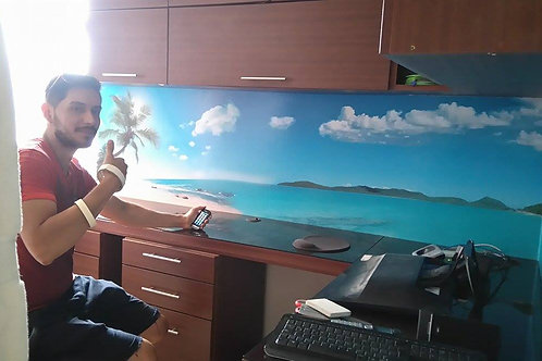 fotomural paisaje de playa decoracion