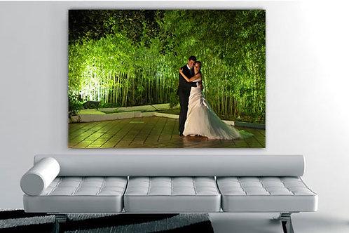 cuadro de esposos fotografia en bastidore