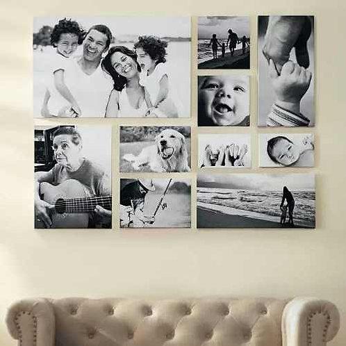 fotocollage cuadro de familia decoracion en sala de casa
