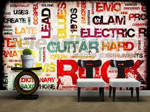 decoracion fotomural letras rock