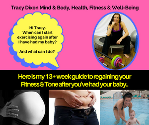 Tracy Dixon Fitness Classes Kendal to get back into shape after having your baby