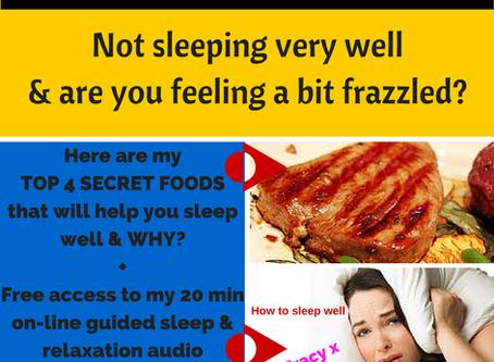4 Secret foods to help you sleep well