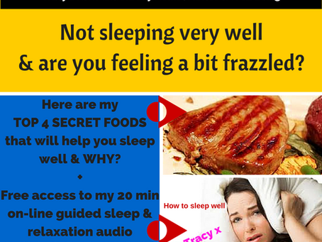 4 Secret foods to help you sleep well