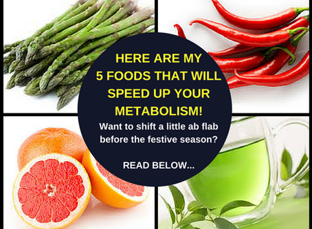 5 foods that will speed up metabolism