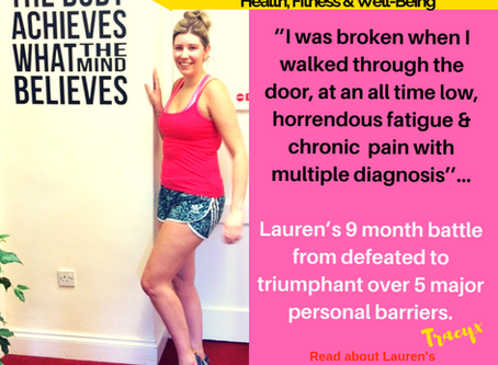 Lauren's 9 month battle from defeated to triumphant over 5 major personal barriers in one to one