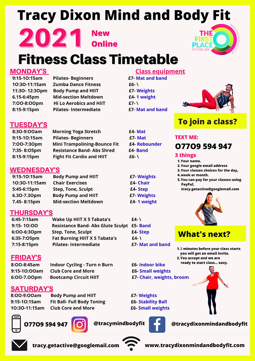 Tracy Dixon Mind and Body Fit Poster Tem