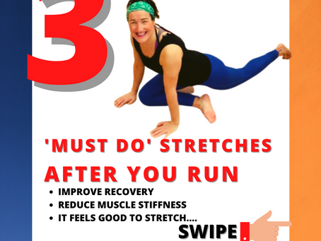 🧡 3 'MUST DO' STRETCHES AFTER YOU RUN 🧡