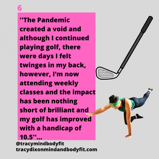 Pilates improves golf play