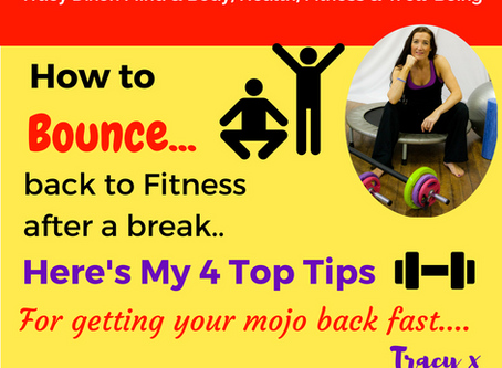 How to Bounce back to Fitness after a break with my 4 Top Tips
