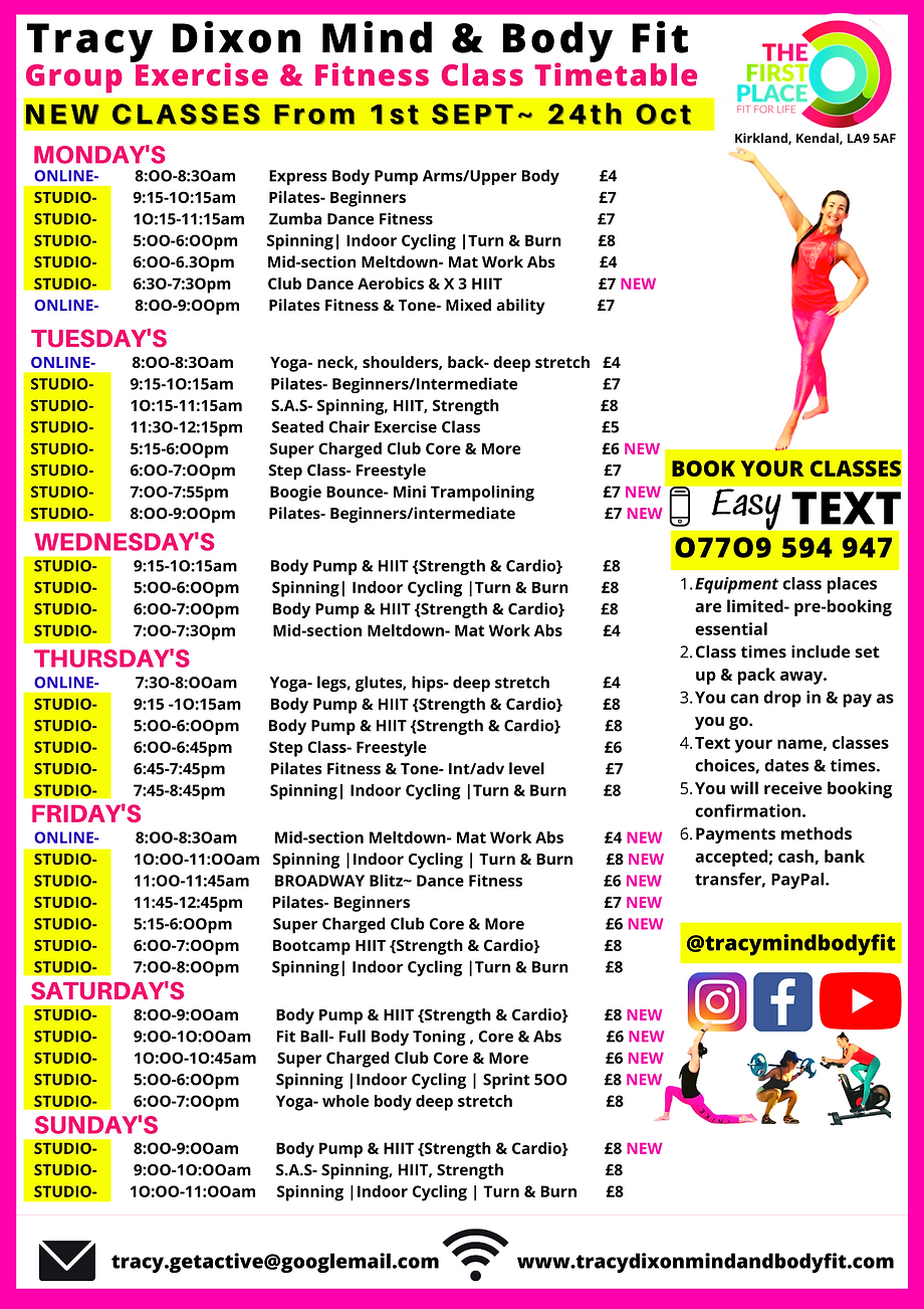 Tracy Dixon NEW September group exercise class timetable First Place Fitness Kendal.png