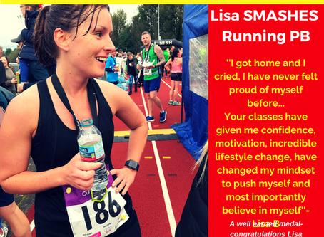 Lisa Smashes Running PB