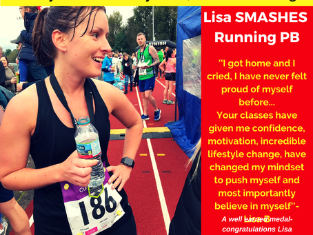 Lisa Smashes Running PB