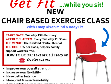 New Chair Based Exercise Class Starting at The Kirkland Centre, Kendal LA9 5AF