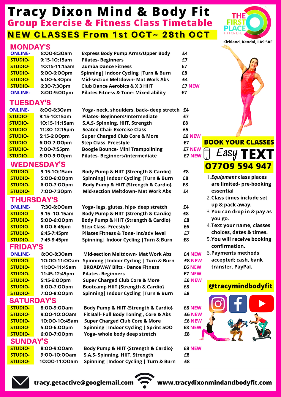 Tracy Dixon Mind and Body Fit October Autumn Timetable.png