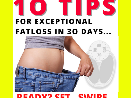 💛 1O EXCEPTIONAL FAT LOSS TIPS AS DAILY GOALS 💛 A 3O day guide to getting results