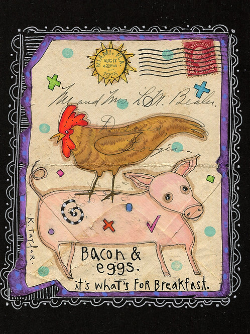 Bacon and Eggs  Envelope