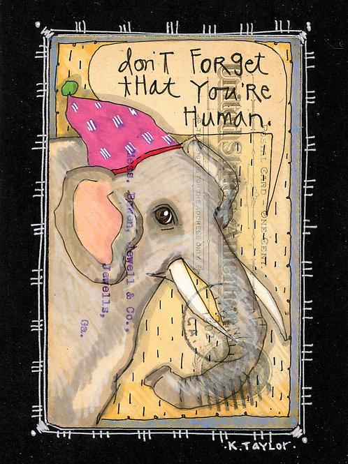 You're Human Postcard