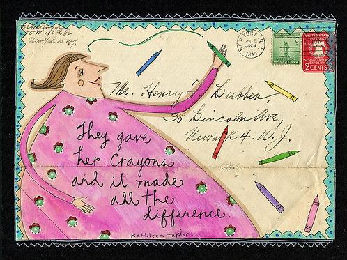 Crayon Magic Envelope