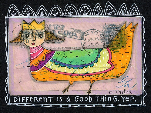 Different Is Good Postcard