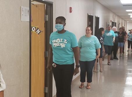 GCA's Teachers Practicing Covid Procedures