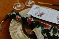 BLACK PEONY NAPKINS - STYLED SHOOT - AUTUMN COLOURS