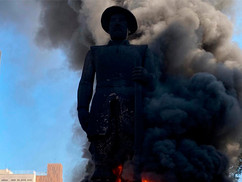 Estátua de Borba Gato queimada por manifestantes traz Luiz Gama