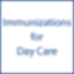 Immunizations for Day Care